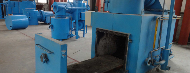 Independent movable platform in out incinerator combustion for Household incinerator design